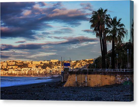 City Sunrises Canvas Print - City Of Nice In France At Sunrise by Artur Bogacki