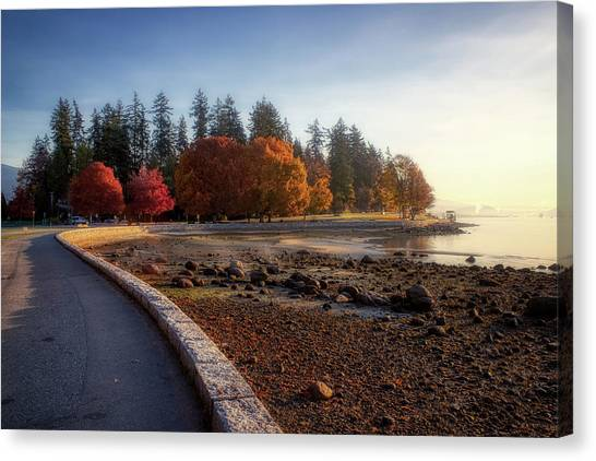 Colorful Autumn Foliage At Stanley Park Canvas Print