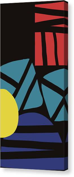 Shapes Canvas Print - Colorful Bento 3- Art By Linda Woods by Linda Woods