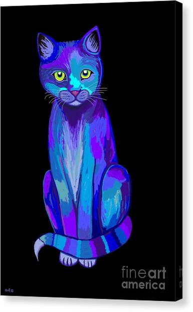 Canvas Print - Colorful Calico Cat by Nick Gustafson