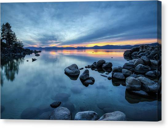 Colorful Sunset At Sand Harbor Canvas Print