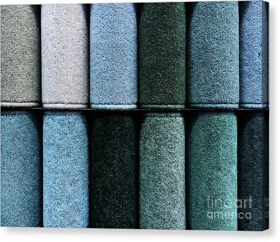 Canvas Print - Colourful Carpet Samples by Tom Gowanlock