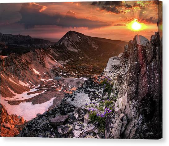 Altitude Canvas Print - Continental Divide by Leland D Howard