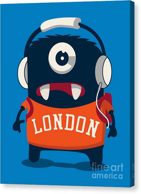 Student Canvas Print - Cool Monster Vector Character Design by Braingraph