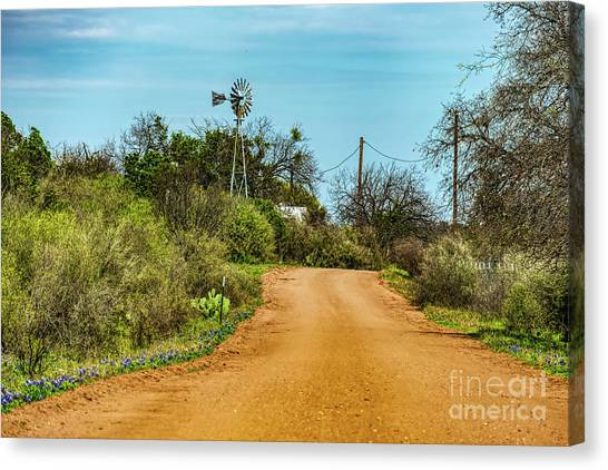 Country Road Canvas Print by Elijah Knight