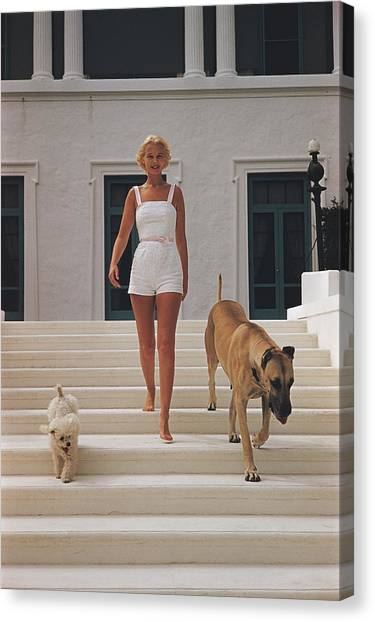 C.z. Guest Canvas Print by Slim Aarons