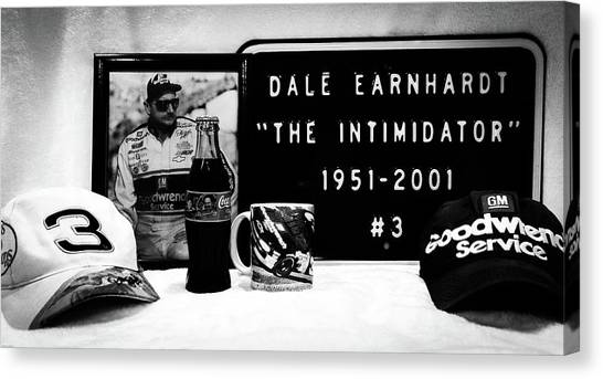 Daytona 500 Canvas Print - Dale Earnhardt Tribute by Aaron Geraud