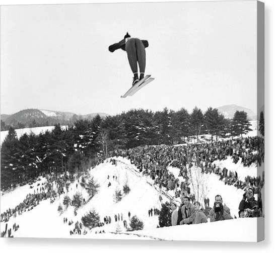 Dartmouth Carnival Ski Jumper Canvas Print