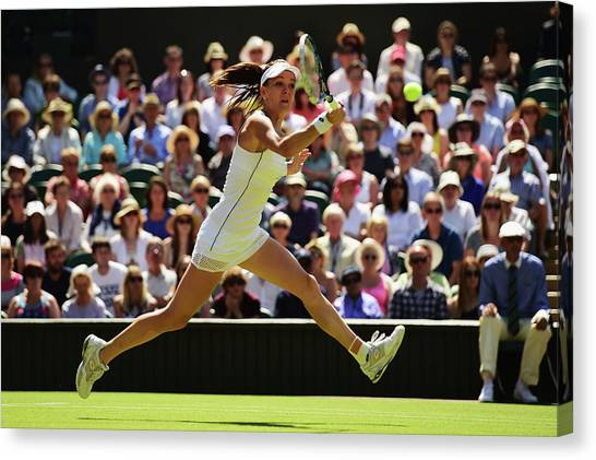 Day Ten The Championships - Wimbledon Canvas Print