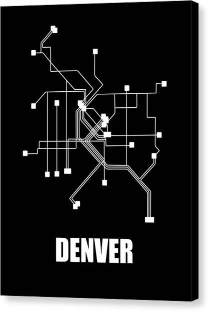 Denver Colorado Subway Map.Colorado Map Canvas Prints Fine Art America