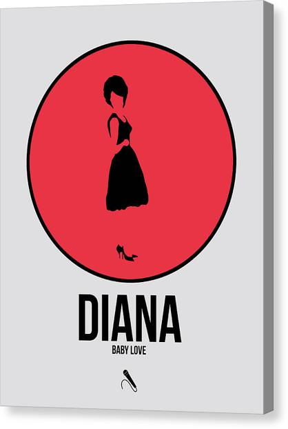 Soul Canvas Print - Diana Ross by Naxart Studio