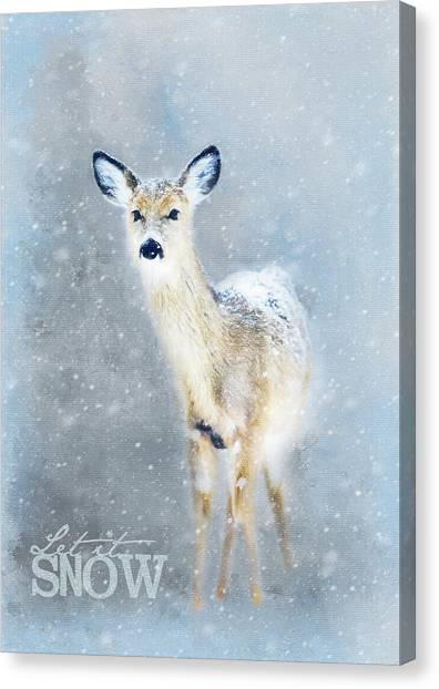 Canvas Print - Doe In The Snow by Amanda Lakey