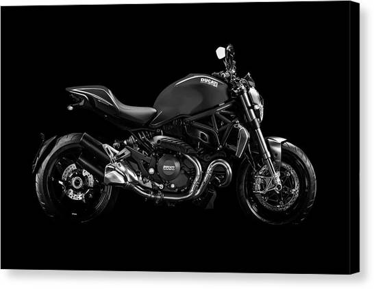 Ducati Canvas Print - Ducati Monster 696 by Smart Aviation