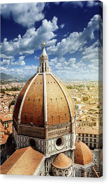 Duomo In Florence Canvas Print by Da-kuk