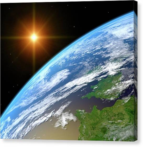 Earth, Artwork Canvas Print by Science Photo Library - Roger Harris.