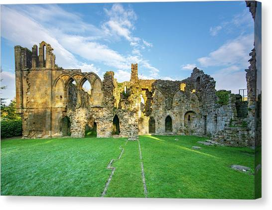 Monks Canvas Print - Easby Abbey by Smart Aviation