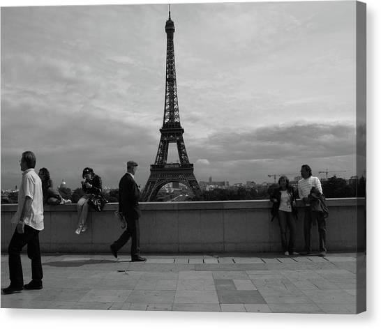 Eiffel Tower, Tourist Canvas Print
