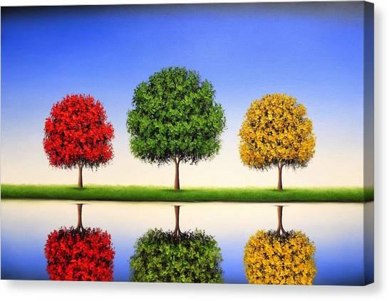Blooming Tree Canvas Print - Endless Blue by Rachel Bingaman