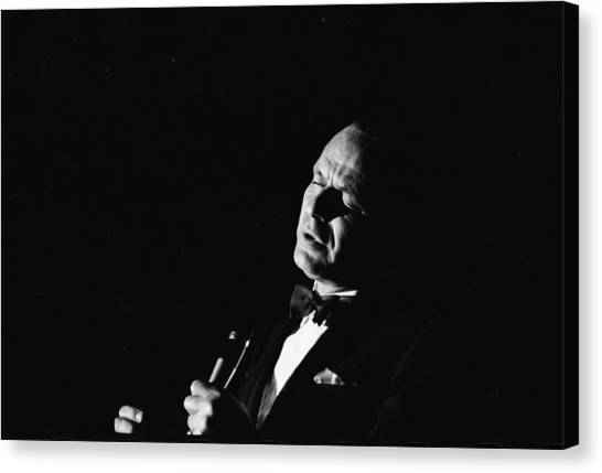Entertainer Frank Sinatra Singing Canvas Print by John Dominis