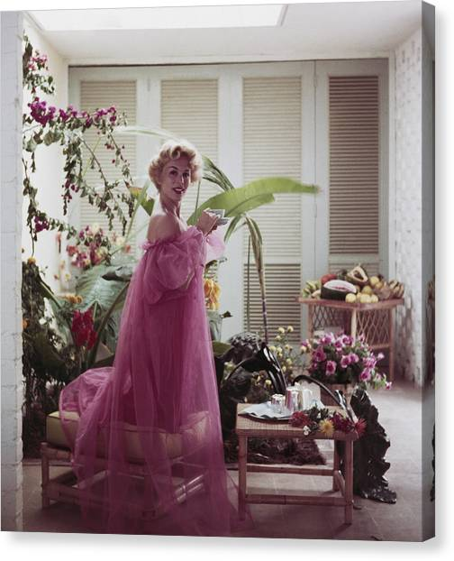 Eva Gabor Canvas Print by Slim Aarons