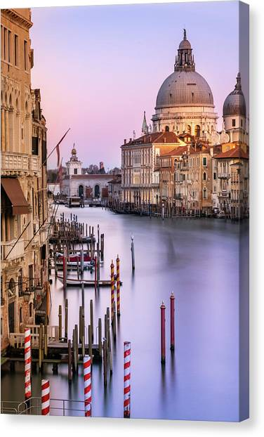 Evening Light In Venice Canvas Print