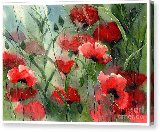 Jerusalem Canvas Print - Everything About Poppies by Suzann Sines