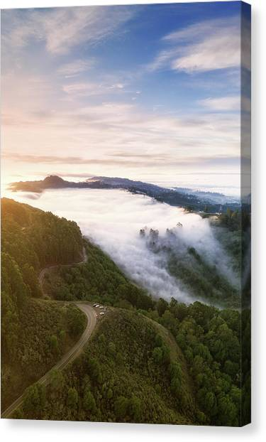 Fogfall, Berkeley Hills Canvas Print by Vincent James