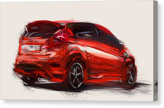 Ford Fiesta Canvas Prints Page 2 Of 2 Fine Art America