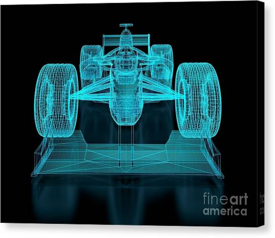 Speed Canvas Print - Formula One Mesh. Part Of A Series by Nuno Andre