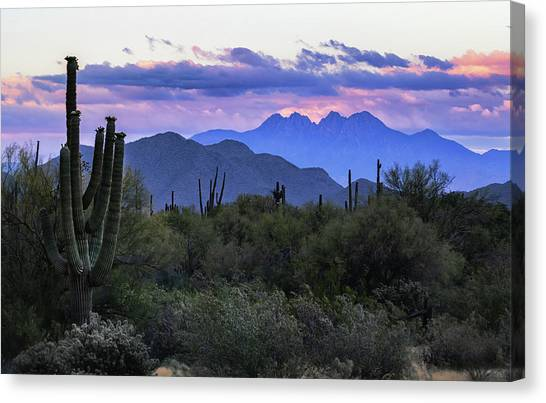 Canvas Print - Four Peaks Sunrise  by Saija Lehtonen