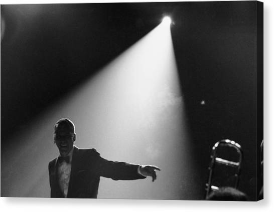 Frank Sinatra On Stage Canvas Print