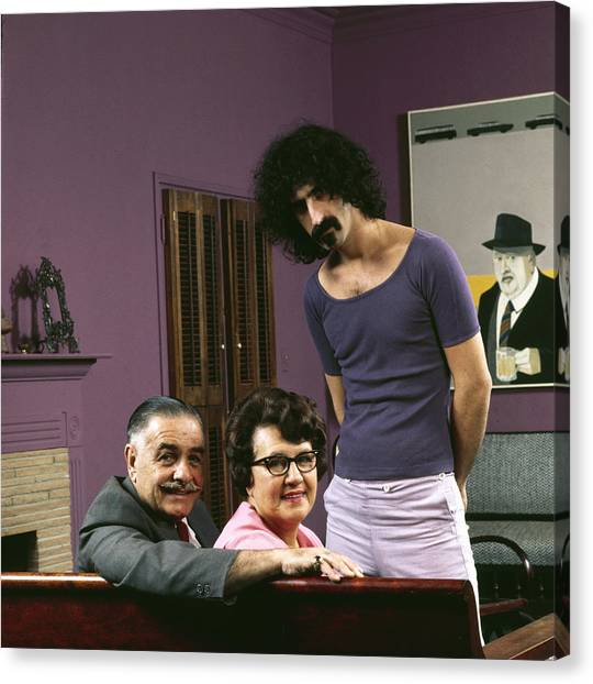 Casual Canvas Print - Frank Zappa & His Parents by John Olson