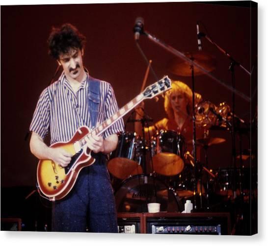 Frank Zappa Canvas Print - Frank Zappa Live by Larry Hulst