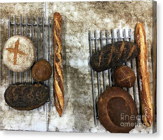 Canvas Print - Freshly Baked Artisan Bread by Tom Gowanlock