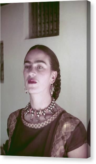 Frida Kahlo Canvas Print by Michael Ochs Archives