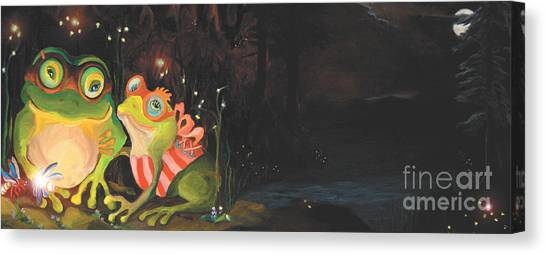 Frogs Of Silver Lake Canvas Print