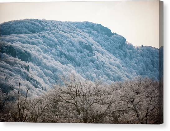 Frost On The Mountain Canvas Print