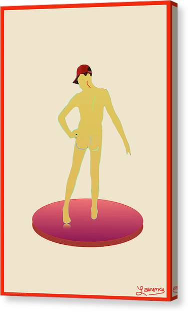 Male Nudes Canvas Print - Fun Guy 05 by Laurence Wolfe