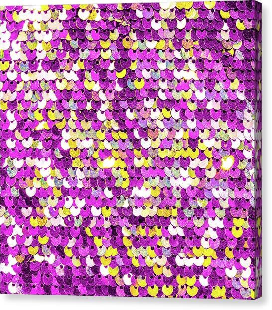 Funky Sequins Canvas Print