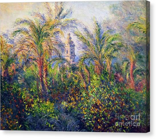State Hermitage Canvas Print - Garden In Bordighera, Impression Of Morning by Peter Barritt