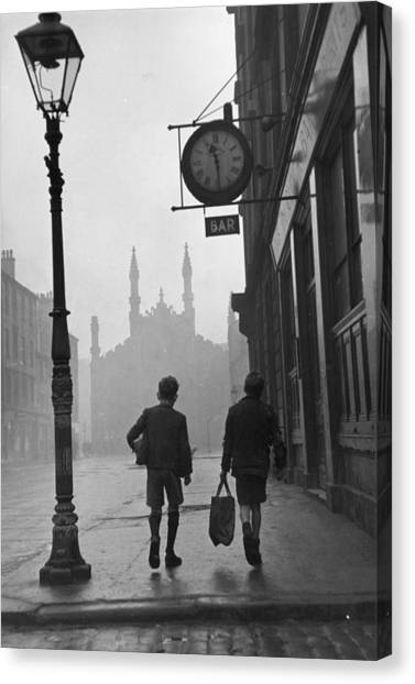 Glasgow Boys Canvas Print by Bert Hardy