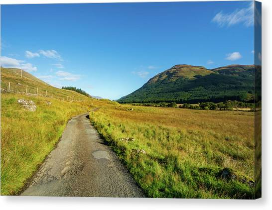 Glen Canvas Print - Glen Lyon by Smart Aviation