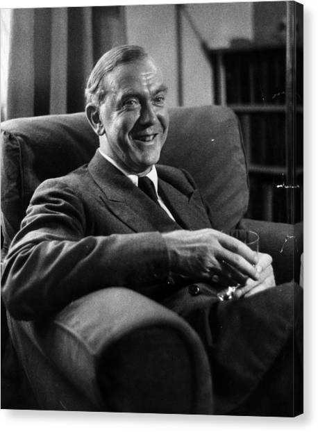 Graham Greene Canvas Print by Kurt Hutton