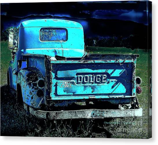 Green Dodge Canvas Print