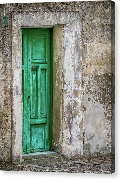Green Door 2 Canvas Print