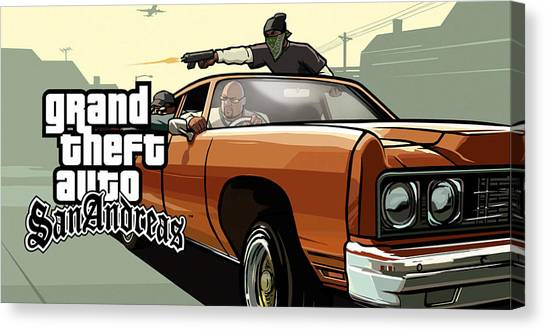 Grand Theft Auto Canvas Print - Gta San Andreas by Snowflake Obsidian