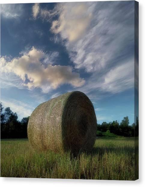 Farming Canvas Print - Hay Bale 2 by Jerry LoFaro
