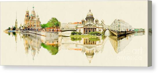 High Resolution Panoramic Water Color Canvas Print by Trentemoller