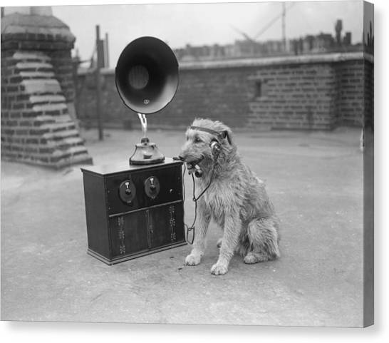 His Masters Voice Canvas Print by Fox Photos