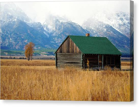 Canvas Print featuring the photograph Home On The Range by Pete Federico